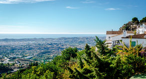 View from the Mijas village to Fuengirola town Stock Images