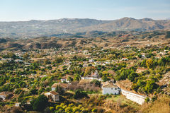 View from the Mijas village to Fuengirola town Royalty Free Stock Images