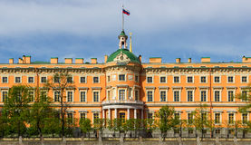 View of the Mikhailovsky Castle. Saint Petersburg. View of the Mikhailovsky Castle. Embankment of the river Fontanka. Saint Petersburg. Russia Royalty Free Stock Images
