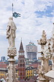 View of Milan from the Cathedral Royalty Free Stock Image