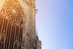 View of Milan Cathedral (Duomo di Milano) Stock Photography