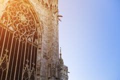 View of Milan Cathedral (Duomo di Milano) Stock Photography