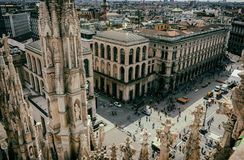 View from Milan Cathedral (Duomo). Milan Royalty Free Stock Photography