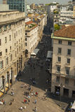 View from Milan Cathedral (Duomo). Milan, Italy Stock Photos