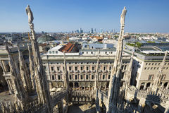 View from Milan Cathedral Stock Image