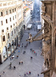 View from the Milan Cathedral in Italy royalty free stock images