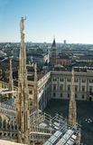 View of Milan from a height Stock Photo