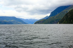 View of Milford Sound fiord, Te Anau, New Zealand. Stock Image
