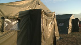 View of military camp stock footage