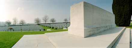 view on military cemetry Stock Photography