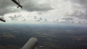 View from military helicopter stock footage