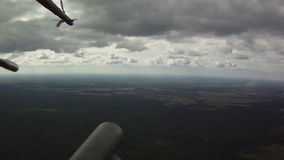 View from military helicopter stock video