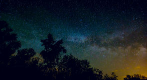 View on Milky Way Galaxy on nigh sky Royalty Free Stock Image