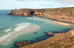 View of Mill Bay near Land's End, Cornwall, UK Stock Images