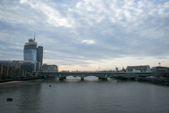 View from Millenium bridge, london Royalty Free Stock Images