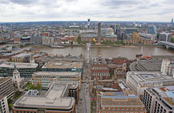 View on Millenium bridge, London. Stock Images