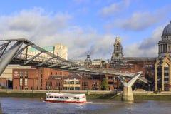 View of Millennium bridge, London. Royalty Free Stock Photo