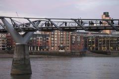 View of the Millennium Bridge Stock Photography