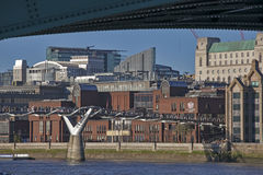 View of the Millennium Bridge Stock Photo