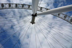 View of the Millennium Wheel or London Eye from its base royalty free stock photos