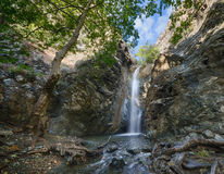A view of milomeris waterfall . Royalty Free Stock Photography