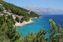 View of Mimice village in Croatia. Mimice, Croatia. View of adriatic sea coast Royalty Free Stock Image