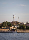 View on Minaret. From boat on river Nile, Luxor, Egypt Stock Image