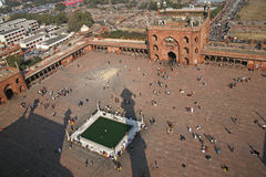 View from minaret tower at Jama Masjid Stock Image