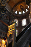 View of minbar of Hagia Sophia Royalty Free Stock Image