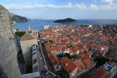View from Minceta tower. Dubrovnik. Croatia Royalty Free Stock Photography