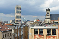 View of Minimes street from Place Poelaert, Brussels Royalty Free Stock Photos