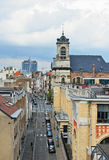 View of Minimes street from Place Poelaert. Brussels Royalty Free Stock Photos