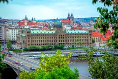 View of Ministry of Industry and Trade building inPrague, Czech Republic stock photo