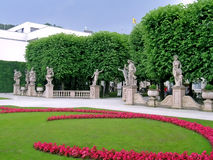 View of Mirabell gardens Stock Image