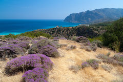 View of Mirabello Bay in Greece Royalty Free Stock Image