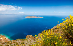 View of Mirabello Bay and Pseira Island, Sitia, Crete. Greece Royalty Free Stock Photography