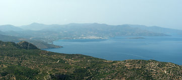 View of Mirabello Gulf Stock Photography