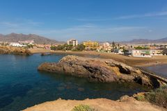 View from Mirador Cabezo de Gavilan Puerto de Mazarron coast Spain royalty free stock photography