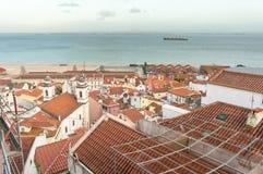 View from Mirador de Santa Lucia, Lisbon Stock Photography