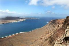 View from the Mirador del Rio. Lanzarote, Canary Islands Stock Images