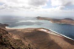 View from the Mirador del Rio. Lanzarote, Canary Islands Stock Image