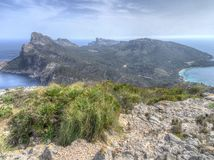 View from Mirador Es Colomer, Mallorca royalty free stock photo