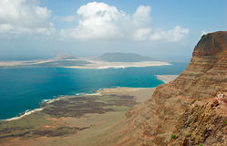 View from Mirador at Lanzarote Royalty Free Stock Photography