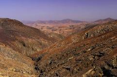 View from the Mirador Montana Cardones stock image