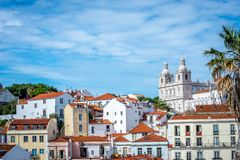 A view of Alfama in Lisbon royalty free stock photos