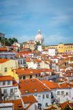 A view of Alfama in Lisbon stock images