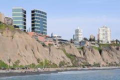 View at Miraflores Lima sea costline. Stock Photos