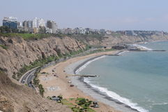 View at Miraflores Lima sea costline. Stock Images