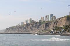View at Miraflores Lima sea costline. Royalty Free Stock Photo