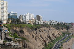 View at Miraflores Lima sea costline. Royalty Free Stock Image